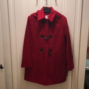 Cherry Red Nautical Xl women's pea coat